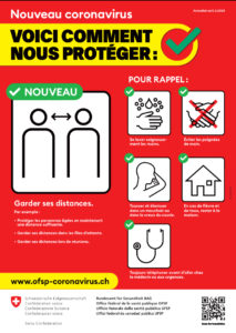 Mesures de protection contre le Coronavirus
