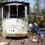 Tram 36 sorti du bois au Trésils